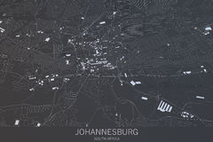 Johannesburg översikt, satellit- sikt, stad, Sydafrika Royaltyfria Bilder