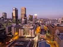 Johannesburg bis zum Nacht stockbilder