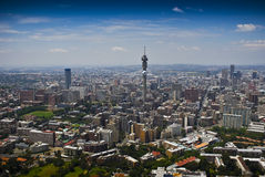 Johannesburg CBD - LuchtMening Royalty-vrije Stock Afbeelding
