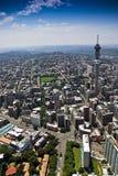 Johannesburg CBD - Luftaufnahme stockfotos