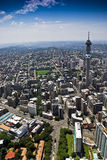 Johannesburg CBD - Vue aérienne Photos stock