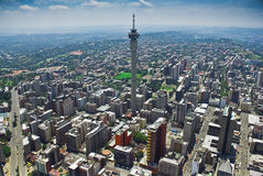 Johannesburg CBD - Vue aérienne Image libre de droits