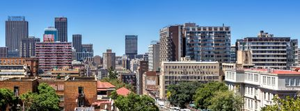 Johannesburg central skyline royalty free stock images