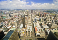 Johannesburg linia horyzontu od wierzchołka Południowa Afryka Obrazy Royalty Free