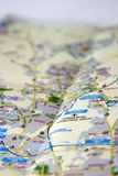 Johannesburg map Royalty Free Stock Image