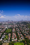 Johannesburg orientale con CBD nella priorità bassa Immagine Stock Libera da Diritti