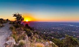 Johannesburg sikt från över Royaltyfri Fotografi