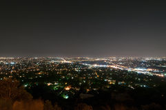 Johannesburg sikt från Northcliff Ridge arkivfoto