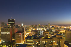 Johannesburg skyline. View of a Johannesburg skyline by night Royalty Free Stock Image
