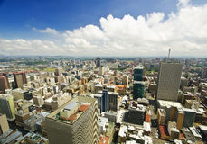 Johannesburg Skyline from top of South Africa Stock Photos