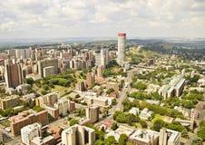 Johannesburg-Skylineflächenansicht Stockbild