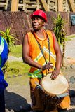 African Men playing traditional drums for Soweto township tourists. Johannesburg, South Africa, April 24, 2013, African Men playing traditional drums for Soweto stock photos