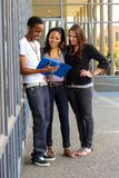 Diverse Students on College Campus Radio station royalty free stock image