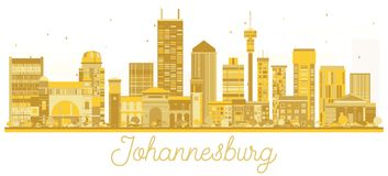 Johannesburg South Africa City skyline golden silhouette. Royalty Free Stock Image