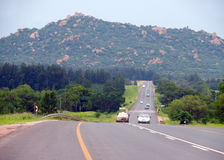 Johannesburg, South Africa - 12 December 2008: road with the mov Royalty Free Stock Photos