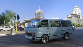 Mini bus taxi in Johannesburg. stock video