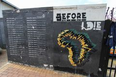 Johannesburg, South Africa - November 24, 2017. `Before I die` wall in Maboneng. Johannesburg, South Africa - November 24, 2017. View of the Before I die wall in royalty free stock image