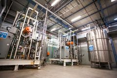 Pharmaceutical manufacturing plant interior. royalty free stock photo