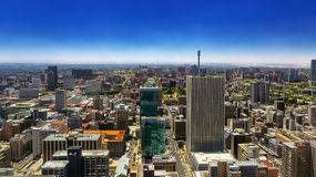 Johannesburg, South Africa. Republic of South Africa. Johannesburg, Gauteng Province. Cityscape north part seen from the Carlton Center viewing deck stock photography