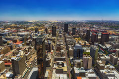 Johannesburg, South Africa. Republic of South Africa. Johannesburg, Gauteng Province. Cityscape west part seen from the Carlton Center viewing deck royalty free stock photos