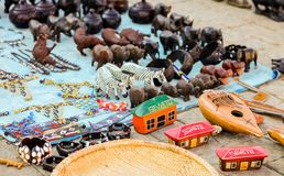 African Curios on sale on Soweto Township street. Johannesburg, South Africa, September 11, 2011, African Curios on sale on Soweto Township street stock photo