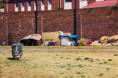 Homeless living on the streets of Soweto royalty free stock photos
