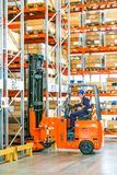 Warehouse Facility with high shelves stock photos