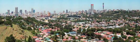Johannesburg stadspanorama Arkivbilder