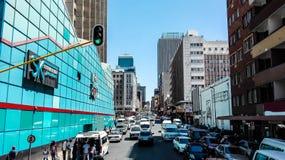 Johannesburg-Straße stockfotografie