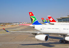 Johannesburg Tambo flygplats Arkivfoto