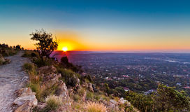 Johannesburg view from above. Sunset at Northclif hill johannesburg Royalty Free Stock Photography