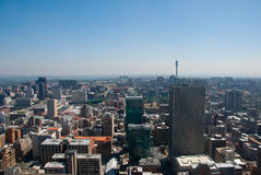 Johannesburgo central Imágenes de archivo libres de regalías