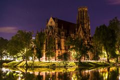 Johanneskirche, Stuttgart, Germany Royalty Free Stock Photography