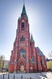 Johanneskirken en Bergen, Noruega. Fotografía de archivo