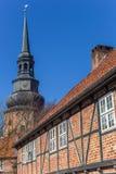 Johannis修道院和高耸的主楼在Stad 库存图片