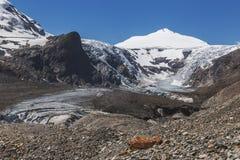 Johannisberg. Alpine landscape. Pasterze glacier. Grossglockner hochalpenstrasse in Austria Royalty Free Stock Images