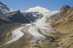 Johannisberg and Pasterze glacier. Johannisberg summit and Pasterze glacier in the Hohe Tauern National Park, Austria Royalty Free Stock Image