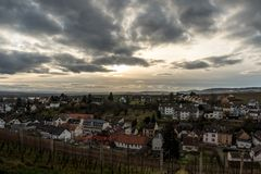 Johannisberg. Small town in Rheingau, Germany Stock Photo