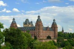 Johannisburg城堡,阿沙芬堡 库存图片