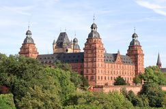 Johannisburg Castle in Aschaffenburg, Germany Royalty Free Stock Images