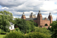 Johannisburg Palace and Gardens Royalty Free Stock Images