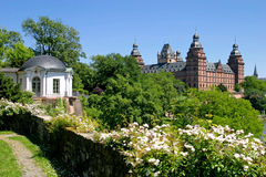 Johannisburg Palace and Gardens. / Bavaria Royalty Free Stock Photos