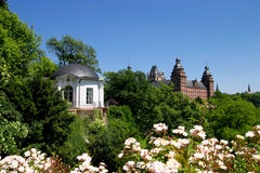Johannisburg Palace and Gardens. / Bavaria Royalty Free Stock Photo