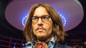 Johhny Depp. Wax statue of the American actor and producer Johnny Depp . Image taken at the Madame Tussauds museum at Sydney, Australia stock images