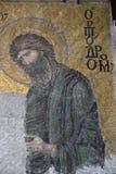 John η βαπτιστική εικόνα στο αρχαίο μωσαϊκό Στοκ εικόνες με δικαίωμα ελεύθερης χρήσης