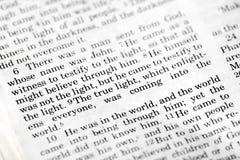 John 1:9 Stock Image