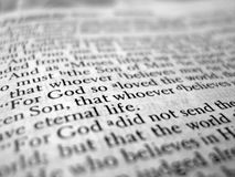 John 3:16. In the Bible Stock Image