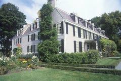 John Adams National Historic-Standort, Haus von John Adams, Braintree, Massachusetts Lizenzfreie Stockbilder