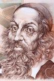 John Amos Comenius stående från tjeckiska pengar royaltyfria foton
