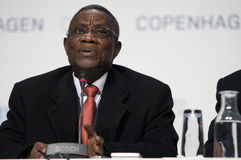 John Atta Mills President of Ghana. President of Ghana, John Atta Mills, speaking at COP15, United Nations Climate Change Conference Copenhagen 2009 royalty free stock photos